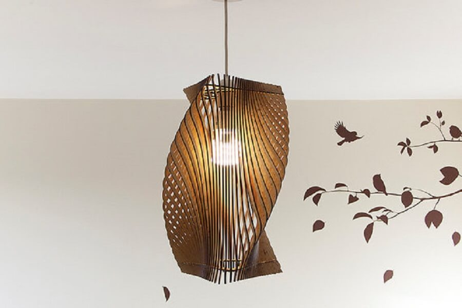 Twisted Lasercut Lampshade No.2 - Parametric Design