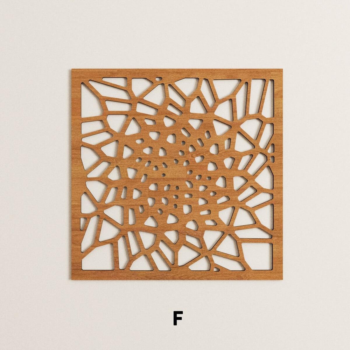 Parametric laser cut wooden panels