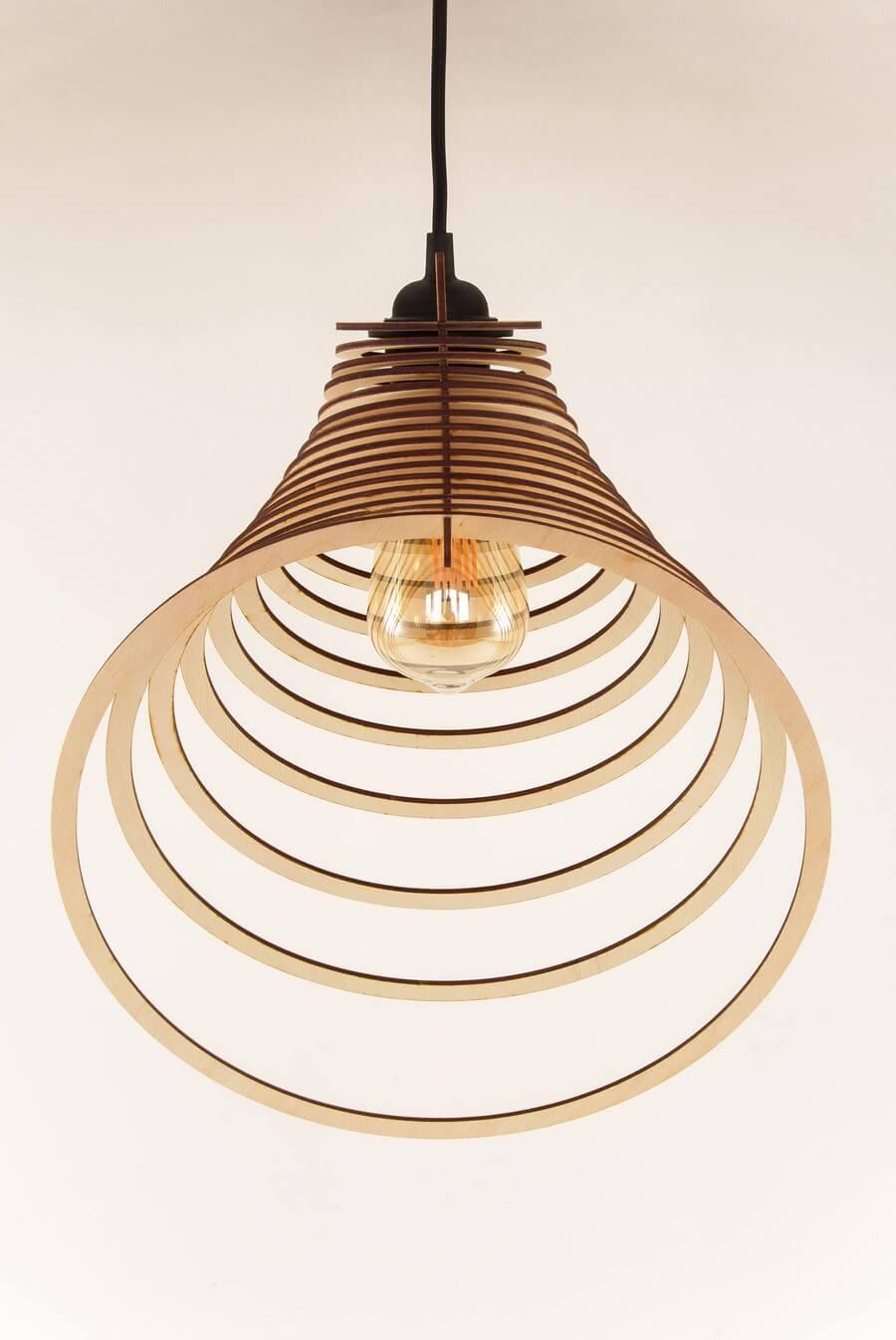 Wooden Pendant Lamp #1: Laser Cutting Designs & Ideas