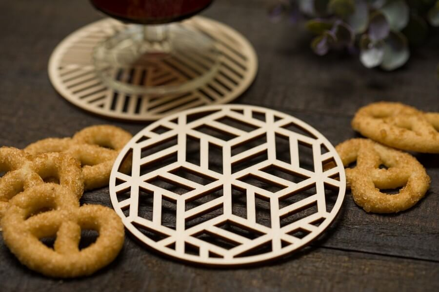 Wooden Coasters #2 - Laser Cutting Designs & Ideas
