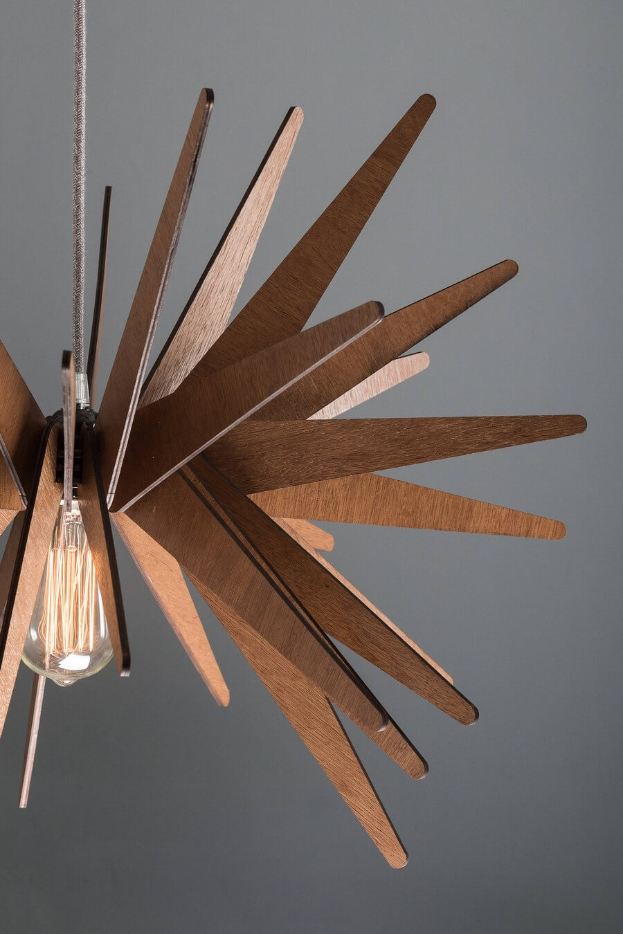 Wooden Pendant Lamp #2 - Laser Cutting Designs & Ideas