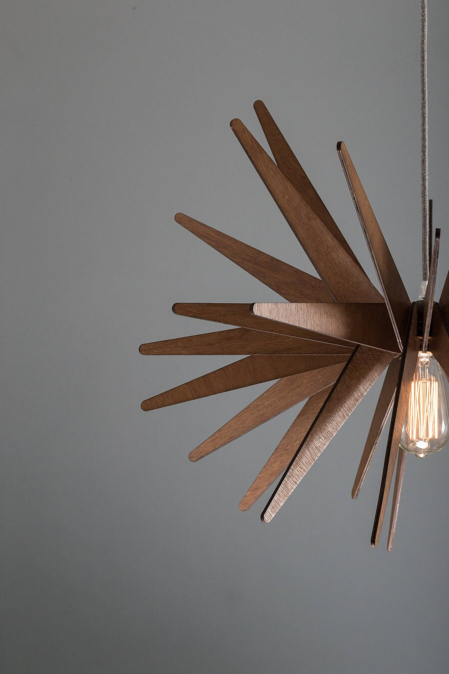 Wooden Pendant Lamp #2 - Laser Cutting Designs & Ideas