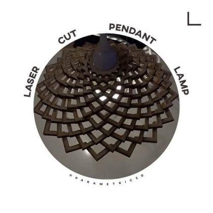 Laser Cut Pendant Lamp - Parametric Design