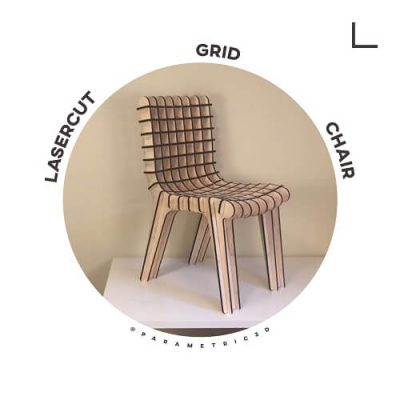 Lasercut Grid Chair - Parametric Design