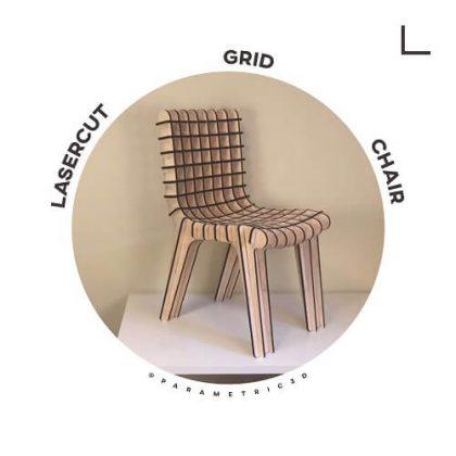 Lasercut Grid Chair - Parametric Design