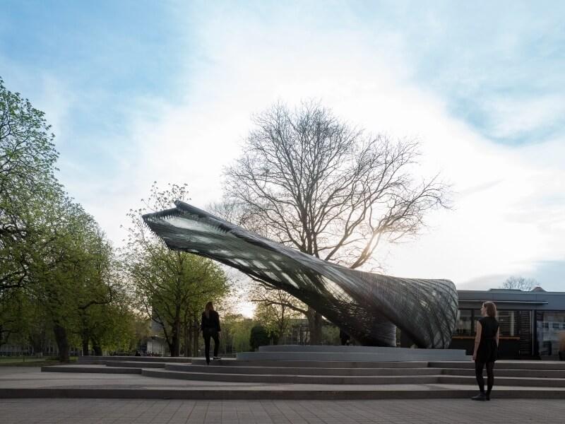 Biomimicry Architecture #1 - Carbon Fibre pavilion