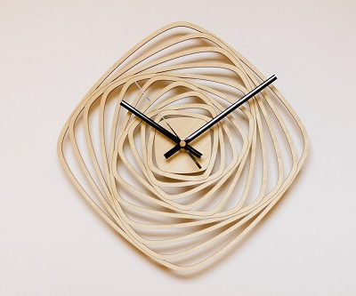 Wooden Wall Clock #3 - Laser Cutting Designs