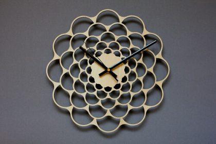 Wooden Wall Clock #2 - Laser Cutting Designs & Ideas