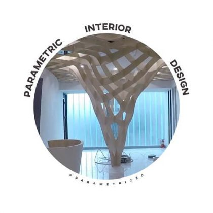 Parametric Waffle Structure - Interior Architecture