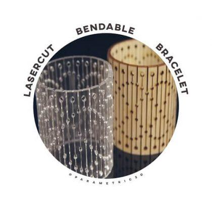 Lasercut Bendable Bracelet