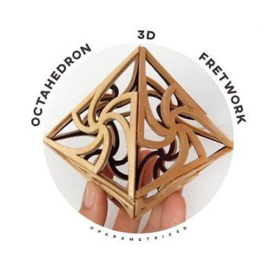 Octahedron 3D Fretwork