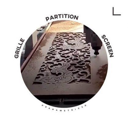 Grille Partition Screen - Laser Cut