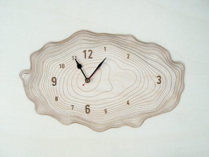 Wooden Wall Clock #4 - Laser Cutting Designs & Ideas