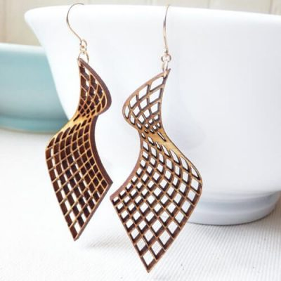 Wooden Earrings #2 - Laser Cutting Designs & Ideas
