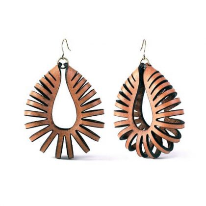Leather Earrings Designs & Ideas #1 - Laser Cutting Designs