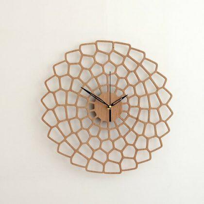 Wooden Wall Clock #6 - Laser Cutting Designs & Ideas