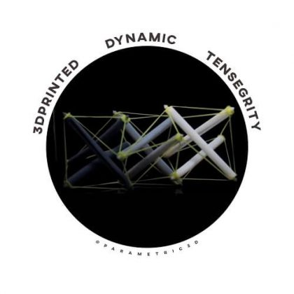 3D Printed Dynamic Tensegrity