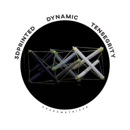 3D Printed Dynamic Tensegrity