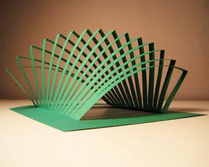 Kinetic Architecture #2 - Kirigami Paper Art