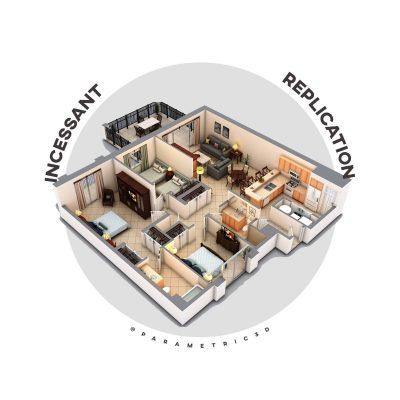 Incessant replication: Computational floor plan generation