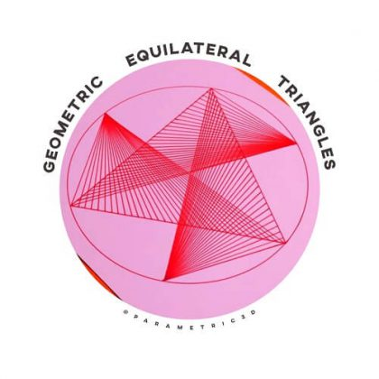 Geometric Equilateral Triangles Drawing Tutorial