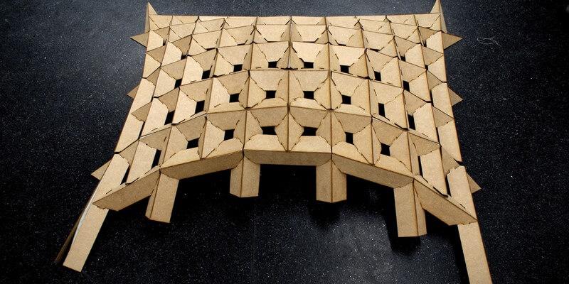 WikiVault reciprocal frame structure
