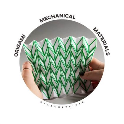 Origami Mechanical Materials