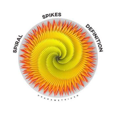 Spiral Spikes Grasshopper Definition