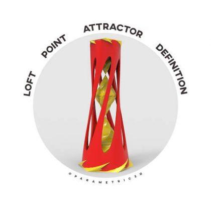 Loft Point Attractor Grasshopper Definition