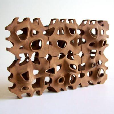 Poroso wooden block aggregation