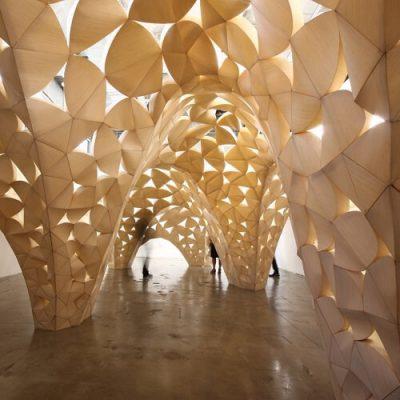 Voussoir Cloud Parametric Pavilion