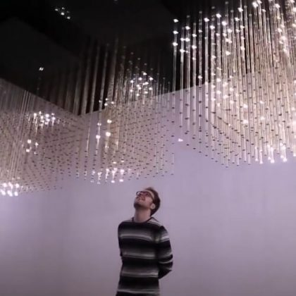 Swarm Light Responsive Light Installation