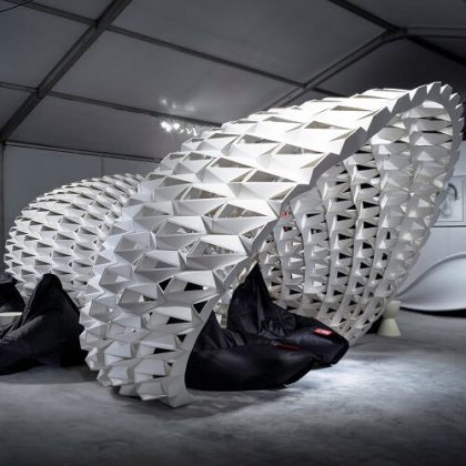 FXFOWLE Lounge Parametric Installation