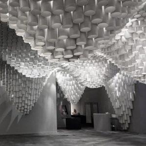 Paper Wave Chandelier