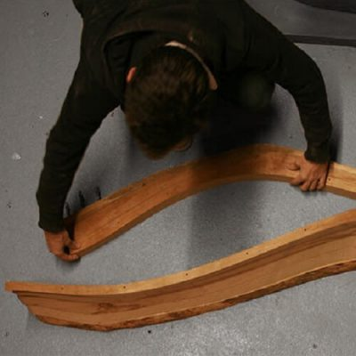 Bandsawn Bands Feature-Based Design and Fabrication of Nested Freeform Surfaces in Wood