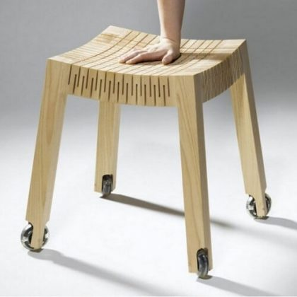 Spring Wood CNC Cut Chair
