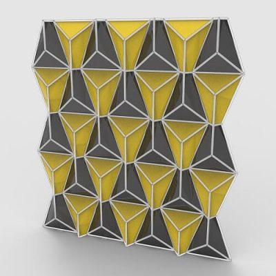 3D Wall Pattern Grasshopper3d Definition