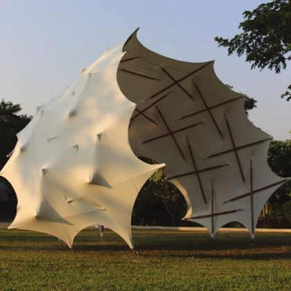 Tensile Configurations: Exploring Spatial Membrane Tensegrity Shell Structures