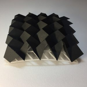 An Algorithm of Rigid Foldable Tessellation Origami to Adapt to Free-Form Surfaces