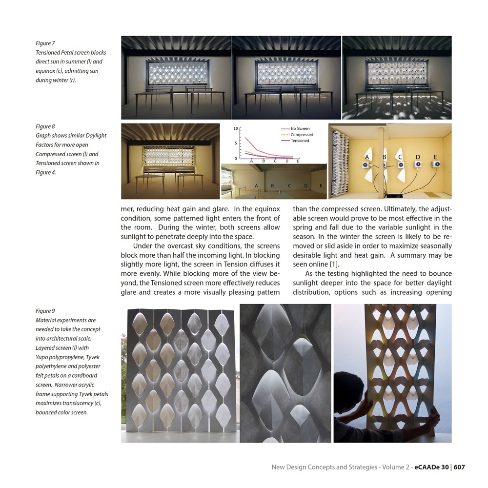 Shading With Folded Surfaces Designing with material, visual and digital considerations