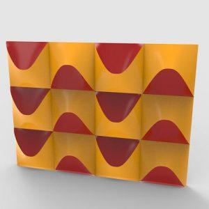 Wavy Tile 3D Pattern Wall Panel Grasshopper3d Definition