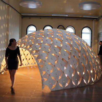 Exoskeleton Pavilion Parametric Design Digital Fabrication
