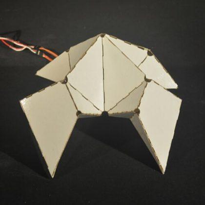 CREASE Synchronized Gait Through Folded Geometry