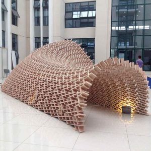 Plywood Pavilion Parametric Design with grasshopper3d and digital fabrication