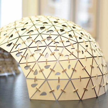 Triangle Pavilion Parametric Design Laser cutting fabrication