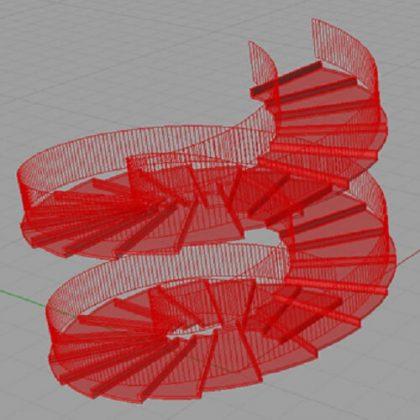 Spiral Staircase Grasshopper3d Example