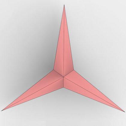 Triangular Origami Grasshopper3d python