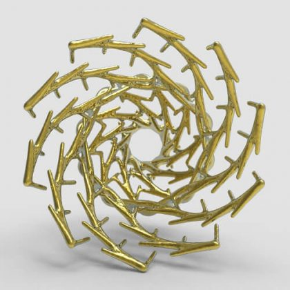 Organic Pattern Grasshopper3d definition Dendro Plugin
