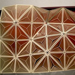 Kinetic Origami Surfaces From Simulation to Fabrication