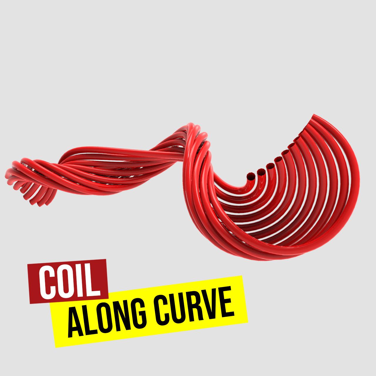 Coil along curve-1200